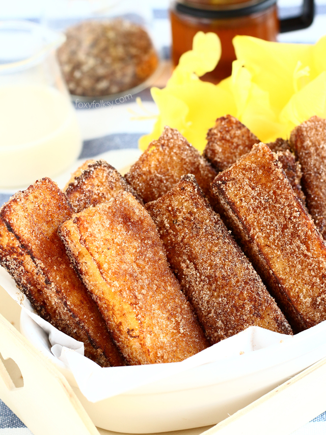 Cinnamon French Toast Sticks Foxy Folksy