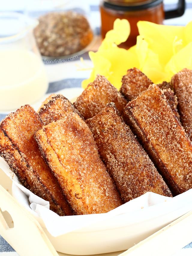 Cinnamon French Toast Sticks |Foxy Folksy