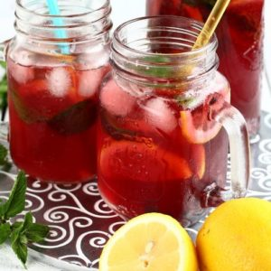 Homemade Red Iced Tea