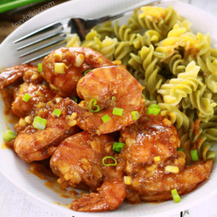 Indulge Yourself With This Delicious And Decadently Rich Shrimp Recipe Cooked In Chili Crab Sauce. | Www.foxyfolksy.com
