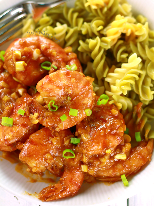 Shrimp in chili crab sauce aligue foxy folksy for Crab topping for fish