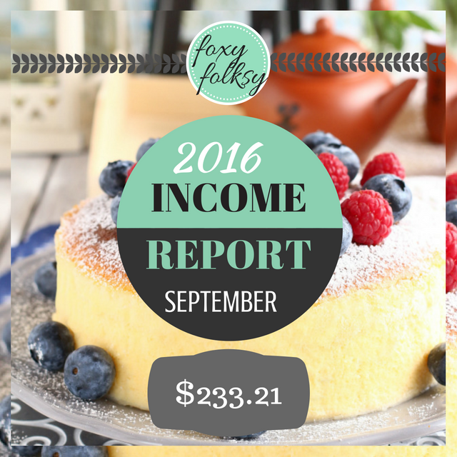 Traffic & Income Report - September 2016