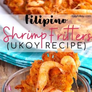 Filipino Shrimp Fritters Ukoy recipe
