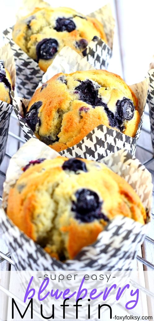 This easy recipe for Blueberry Muffin is perfect for breakfast or even at tea time.