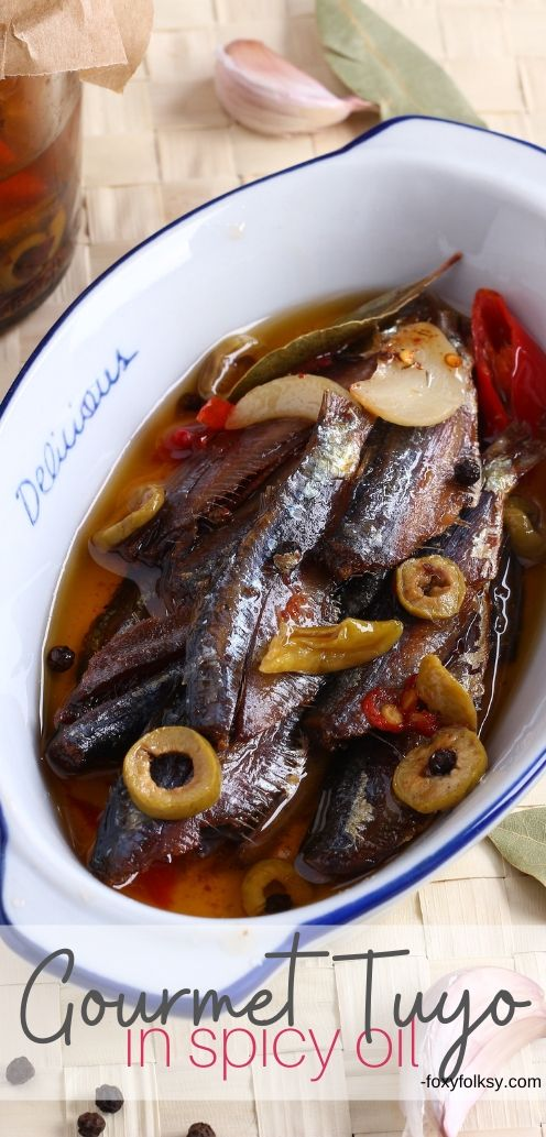 Try this Gourmet Tuyo Recipe and bring your plain tuyo (dried herring) to a whole new level. Cravings solved because you can keep them longer! | www.foxyfolksy.com #filipinofood #filipinorecipe #fishrecipe #recipes #foxyfolksy