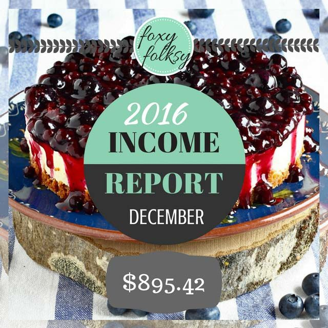 Traffic & Income Report – December 2016