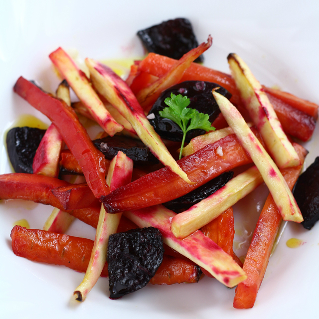 Roasted Vegetable Trio - Beets, Parsnips & Carrots