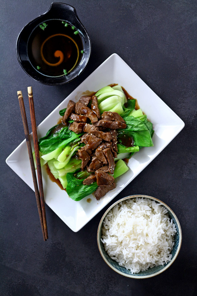 Beef Stir Fry served with rice