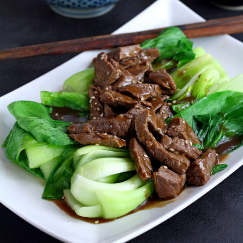 Beef with Oyster Sauce and Pak Choi