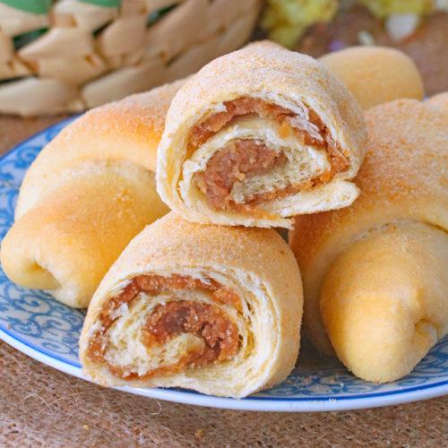 Filipino Spanish Bread - bread roll with butter-sugar filling