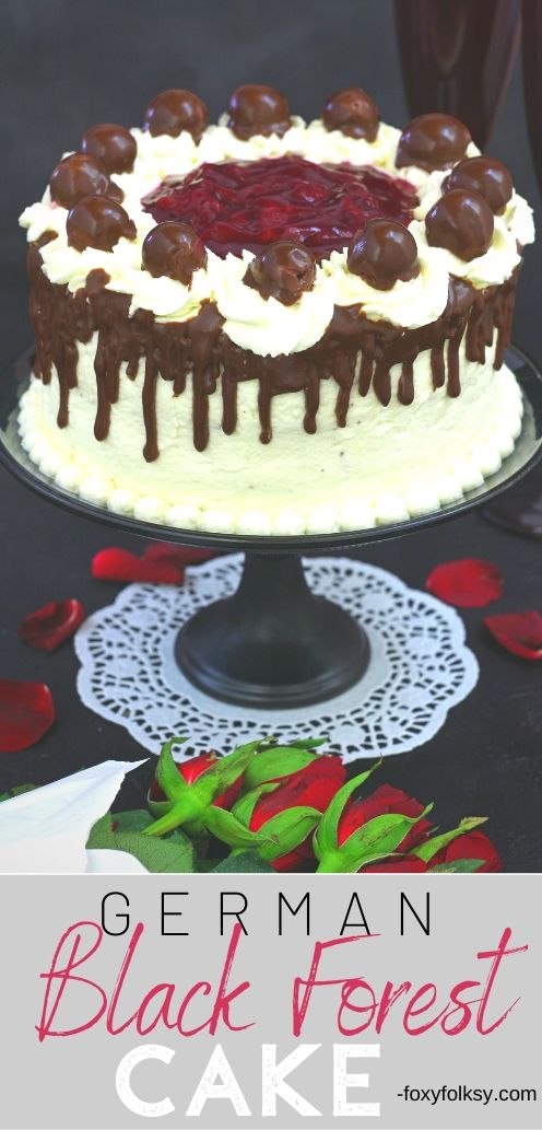 The Black Forest Cake or Black Forest Gateau (British) or what is known here, in Germany where it originated, \