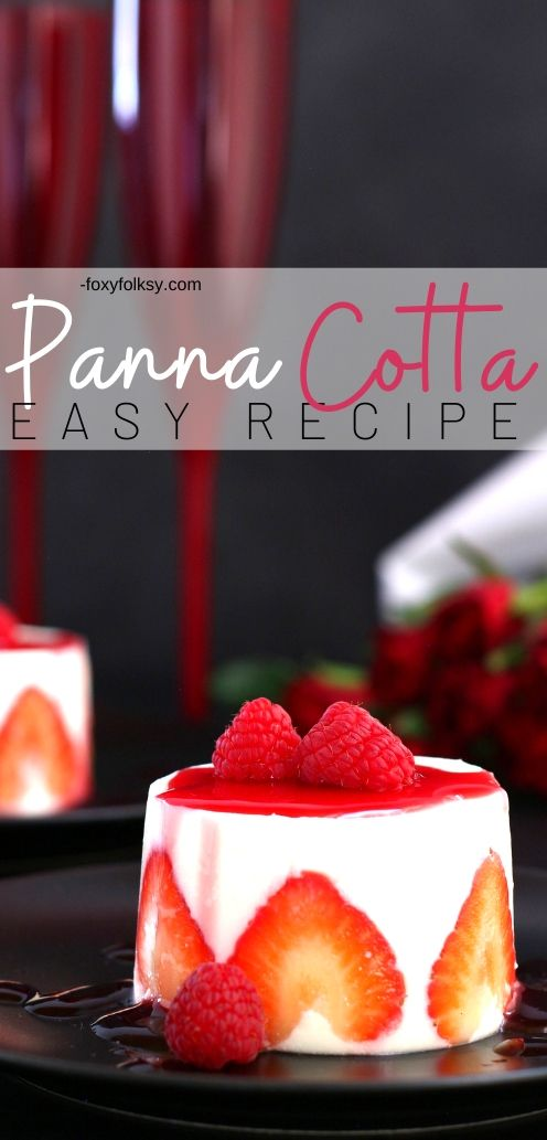 Panna cotta is how they call cooked cream in Italy, where this dessert is originally from. It is really quite easy to make and the ingredients involved are common and simple. | www.foxyfolksy.com #sweets #dessertrecipe #recipes #italian