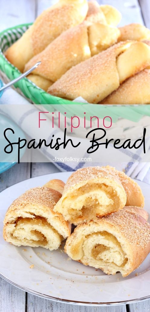 Spanish bread is a popular \'merienda\' in the Philippines with a sweet buttery filling! Try this delicious Filipino Spanish bread for your afternoon snack. | www.foxyfolksy.com #filipinorecipe #bread #breakfast #filipinobread