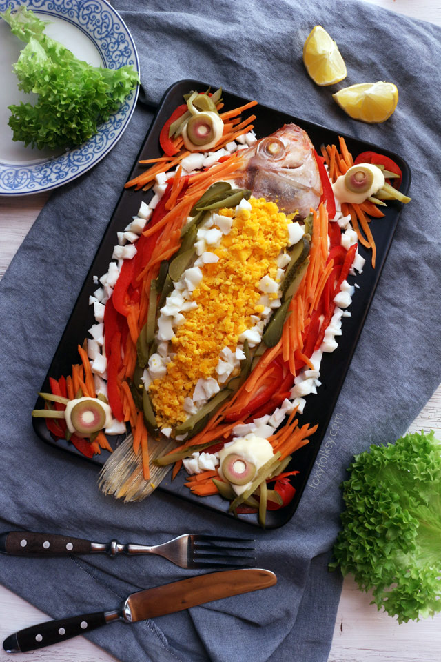 Level up your simple steamed fish into this colorful and tasty Steamed fish with Mayonnaise recipe!   www.foxyfolksy.com