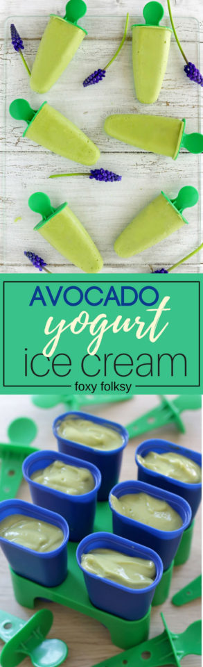 Try this easy recipe for avocado ice cream with yogurt. It is so simple and healthy. | www.foxyfolksy.com