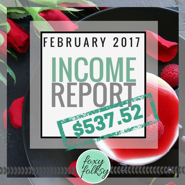 Traffic & Income Report – February 2017