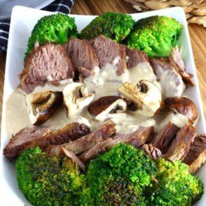 Roast Beef with Cream of Mushroom