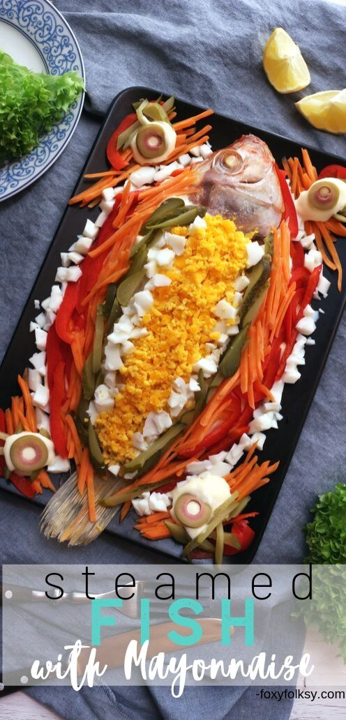 Level up your simple steamed fish into this colorful and tasty Steamed fish with Mayonnaise! Perfect for Lapu-lapu(grouper) Maya-maya(snapper) or Tilapia!| www.foxyfolksy.com #fishrecipe #recipes #asianfood #easy