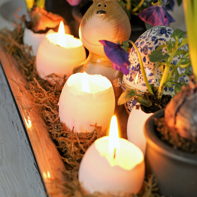Easter Egg Candles for Table Centerpiece