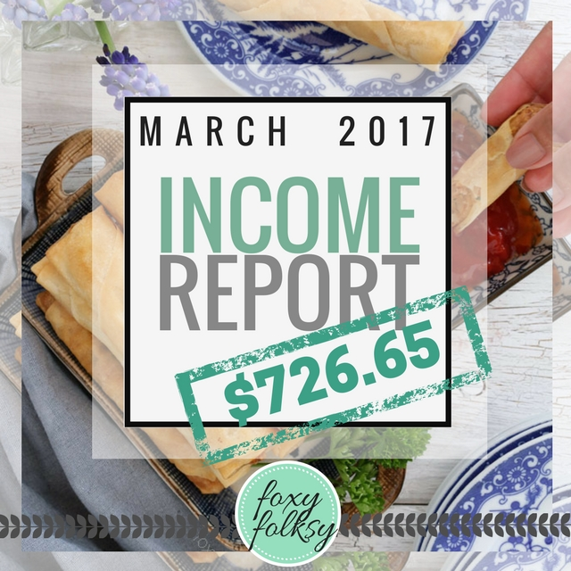 Traffic & Income Report - March 2017
