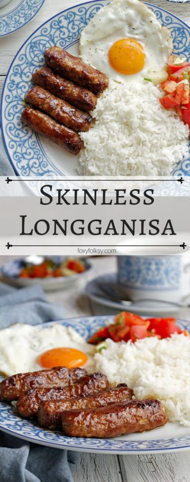 Get this easy Skinless Longanisa recipe here! | www.foxyfolksy.com