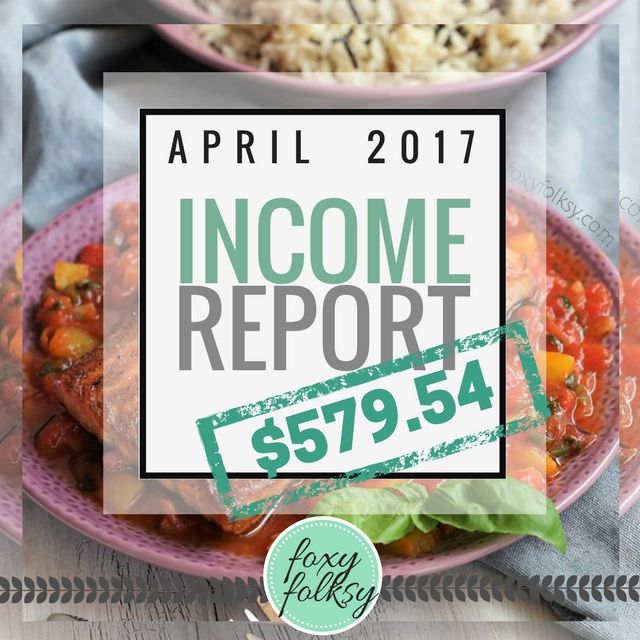 Traffic & Income Report - April 2017
