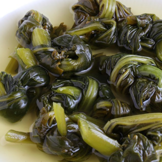 Pickled Mustard Greens (Burong Mustasa)