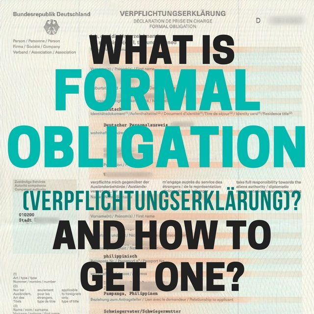 How to get a Formal Obligation (Verpflichtungserkärung) for Schengen Visa Application