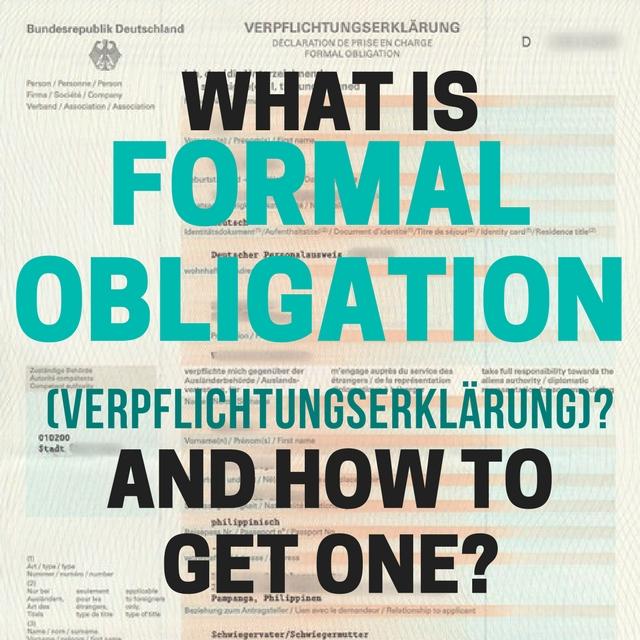 How to get a Formal Obligation (Verpflichtungserkärung) for Schengen Visa Application