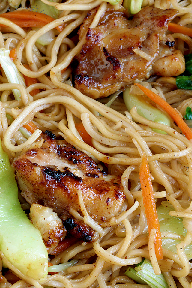 Chicken chow mein simple recipe foxy folksy try this all in one dish chicken chow mein deliciously flavorful and forumfinder Image collections