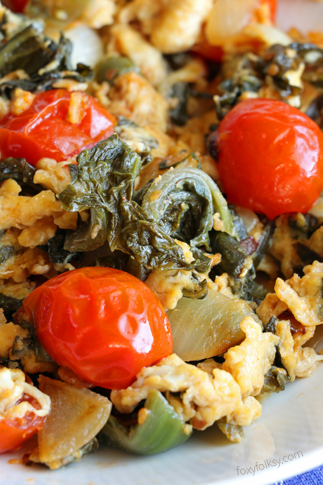 pickled bamboo sauteed pickled mustard greens with tomatoes and egg foxy folksy