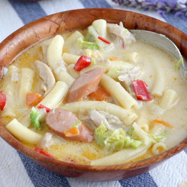 Easy Sopas Recipe (Filipino Chicken Noodle Soup)
