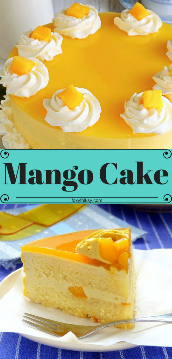 Try this Mango Cake recipe with a perfect balance of flavors that you will surely love. Bursting with fresh mango goodness from the filling all the way to the toppings. Perfect for desserts or that special cake for special occasions. | www.foxyfolksy.com #mangocake #mango #creamcake #dessert #cake