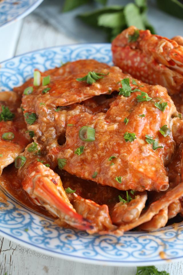 Easy Chili Crab Recipe Foxy Folksy