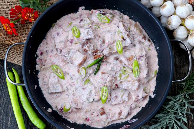 Spicy Pork Stew in Coconut Milk
