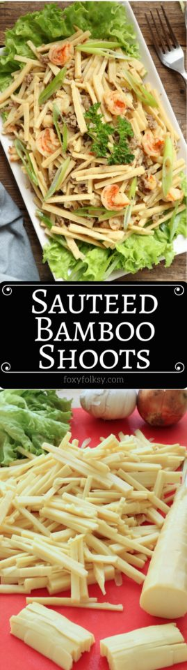 Try this healthy and delicious Sauteed Bamboo Shoots recipe. | www.foxyfolksy.com