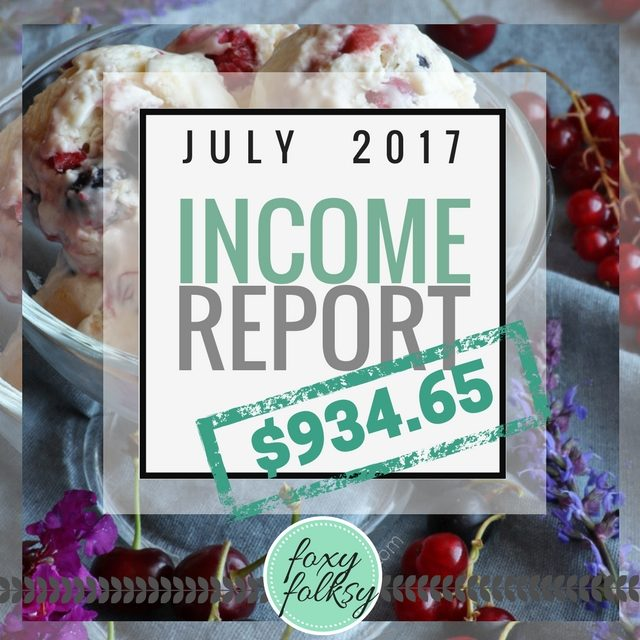 Traffic & Income Report – July 2017
