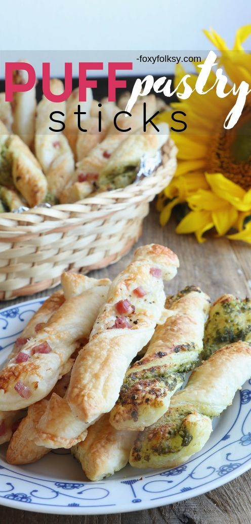 Get this super easy 2-in-1 Puff Pastry Sticks recipe that is perfect for snacks or appetizers. | www.foxyfolksy.com #breadrecipe #appetizer #recipes #foxyfolksy