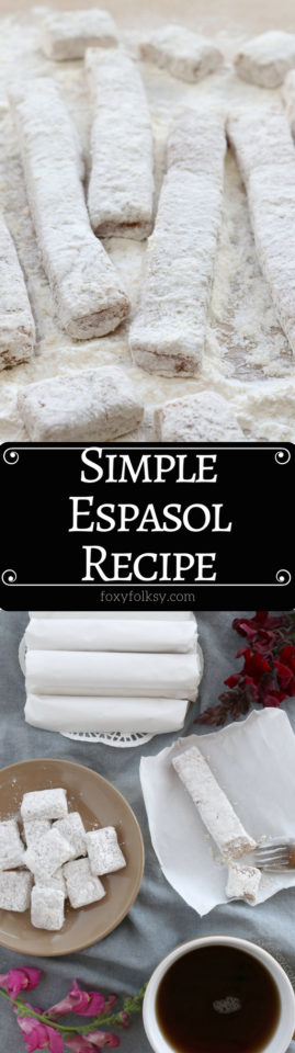 Try this easy Espasol recipe. A hearty and healthy snack that only need 4 basic ingredients. | www.foxyfolksy.com