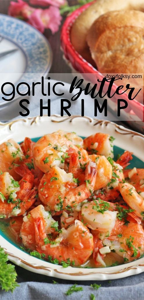 Try this super easy, delicious Garlic Butter Shrimp Recipe. It has a secret ingredient that makes the shrimps sweeter and tastier. | www.foxyfolksy.com #seafoodrecipe #recipes #foxyfolksy