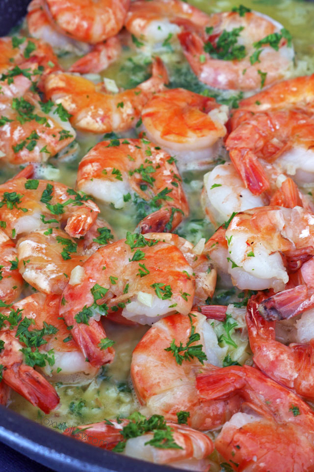 Get this easy, delicious Garlic Butter Shrimp Recipe . It has a secret ingredient that makes the shrimps sweeter and tastier.   www.foxyfolksy.com