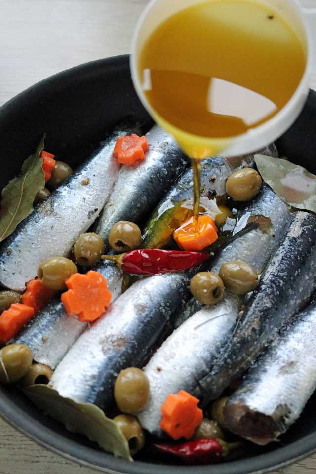 How to make Spanish Style Sardines without pressure cooker