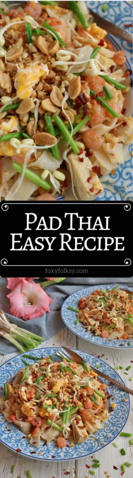 Pad thai easy recipe foxy folksy try this easy pad thai recipe made from simple ingredients a complete meal in forumfinder Choice Image