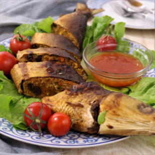 Try This Filipino Stuffed Milkfish Or Rellenong Bangus Recipe. Deboned, Flaked And Re-stuffed With Vegetables And Spices! Baked Or Fried To Golden Crisp! | Www.foxyfolksy.com