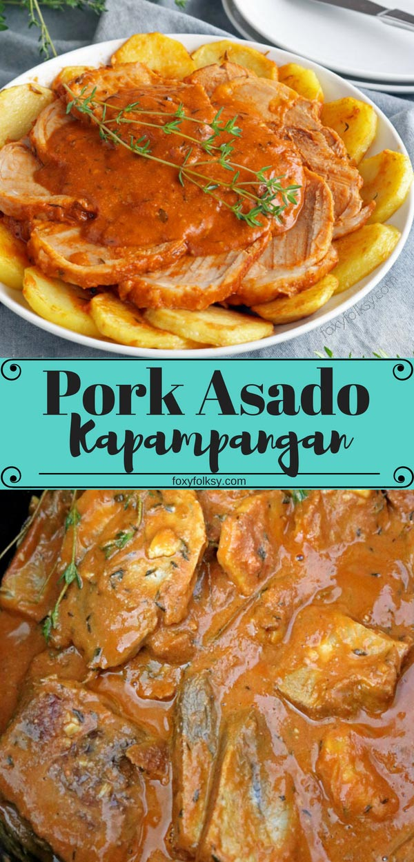 Try this special Pork Asado Kapampangan recipe from my hometown for a traditionally delicious Filipino dish.  | www.foxyfolksy.com #asianfood #filipinofood #pork #recipe