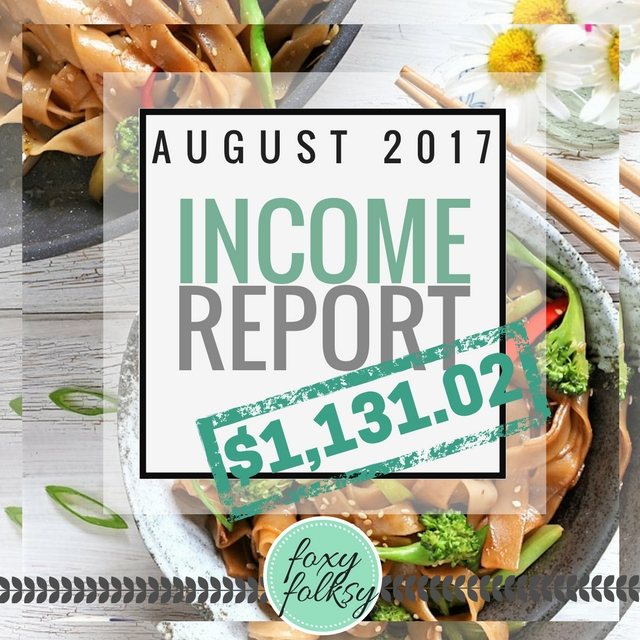 Traffic & Income Report – August 2017