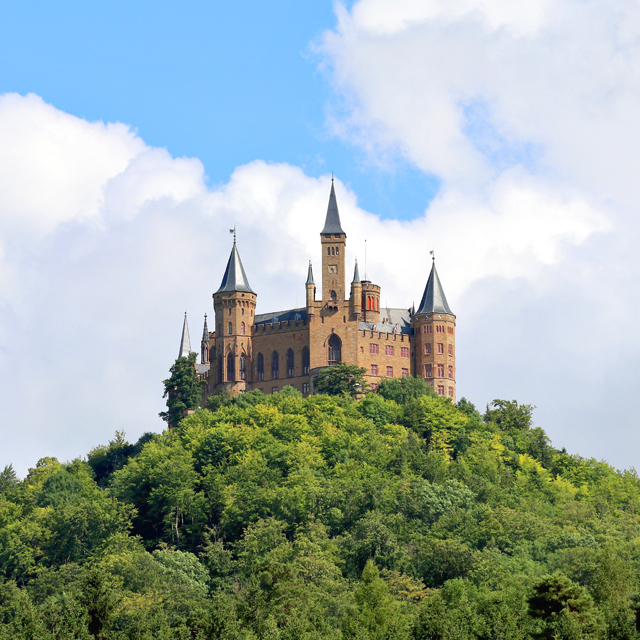 Hohenzollern Castle is a fortress atop mount Hohenzollern, located in central Baden-Württemberg, Germany. Learn history while enjoying the spectacular view.