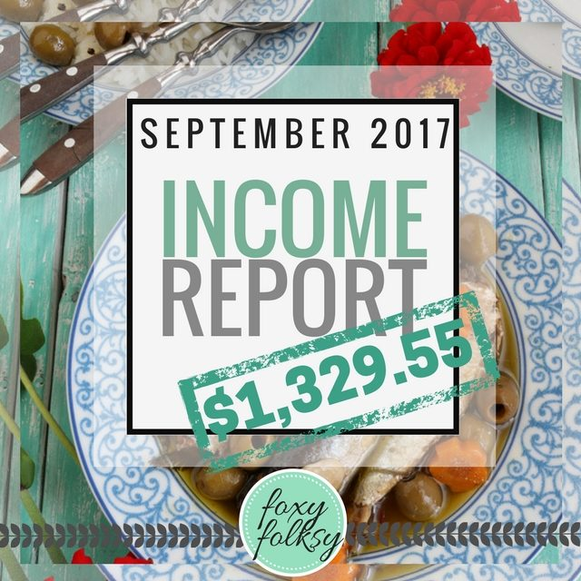 Traffic & Income Report – September 2017