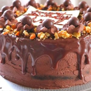 Bare Chocolate Drip Cake