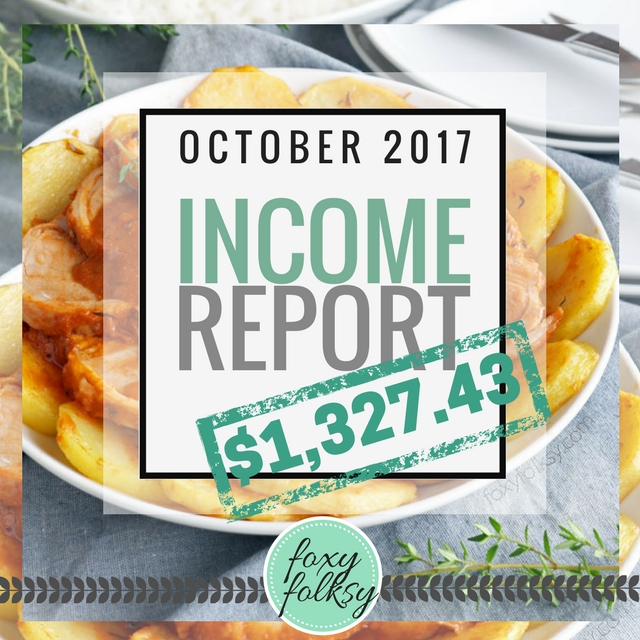 Traffic & Income Report – October 2017